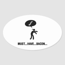 Bacon Lover Oval Sticker