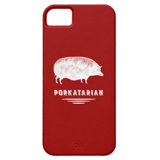 Bacon Lover Porkatarian Vintage Pig Red and White iPhone SE/5/5s Case