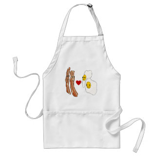 Bacon Loves Eggs Funny Bacon Design Adult Apron