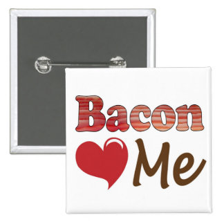 Bacon Loves Me 2 Inch Square Button