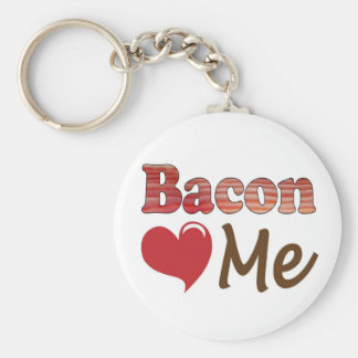 Bacon Loves Me Basic Round Button Keychain