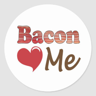 Bacon Loves Me Classic Round Sticker