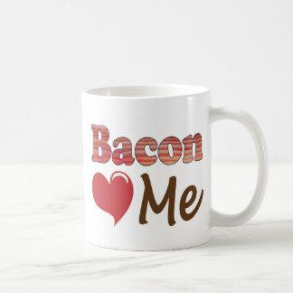 Bacon Loves Me Classic White Coffee Mug