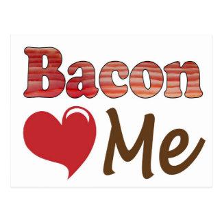 Bacon Loves Me Postcard
