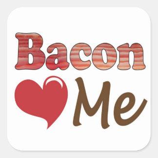 Bacon Loves Me Square Sticker