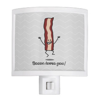 Bacon Loves you! - Happy Bacon wants to hug you! Night Light