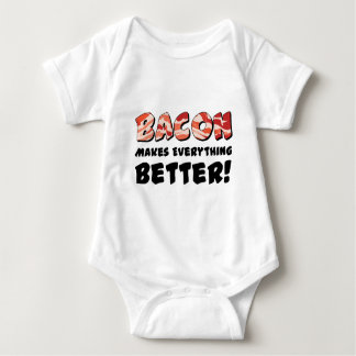 Bacon makes everything better baby bodysuit