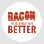 Bacon Makes Everything Better Classic Round Sticker