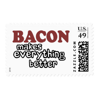 bacon makes everything better postage