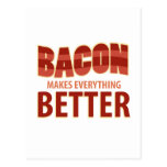 Bacon Makes Everything Better Postcard