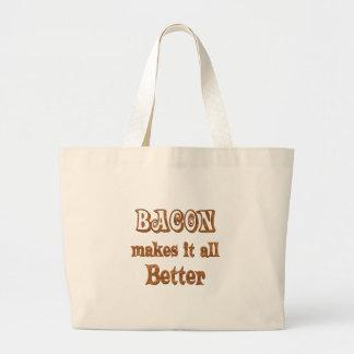 Bacon Makes It Better Jumbo Tote Bag