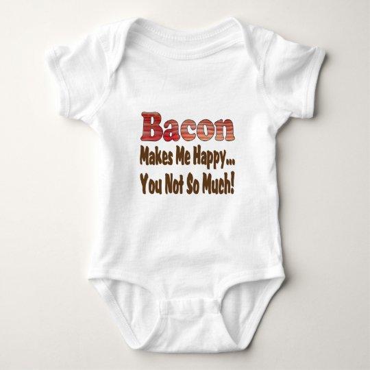 Bacon Makes Me Happy Baby Bodysuit