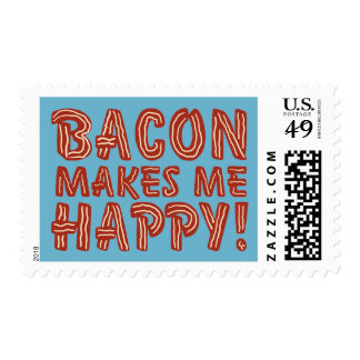 Bacon Makes Me Happy Postage