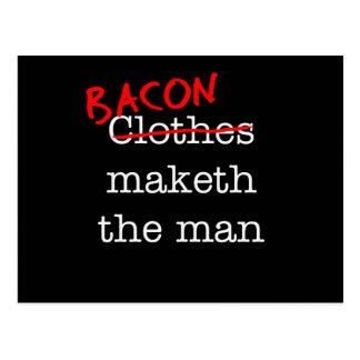 Bacon Maketh the Man Postcard