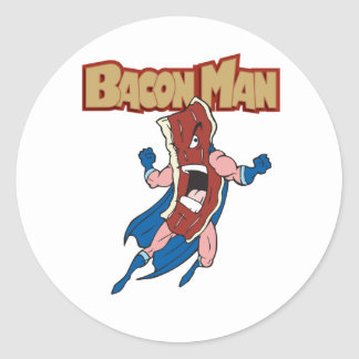 Bacon Man Classic Round Sticker