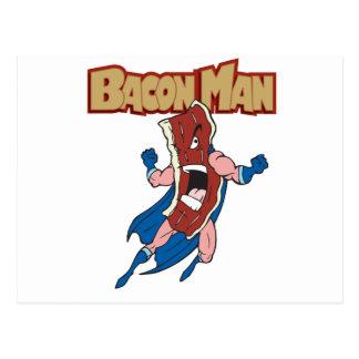 Bacon Man Postcard