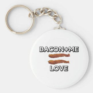 Bacon + Me = Love Keychain