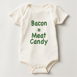 Bacon = Meat Candy Baby Bodysuit