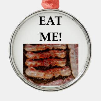 bacon metal ornament