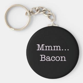 Bacon Mmm Basic Round Button Keychain