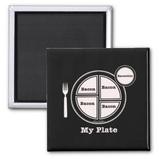 Bacon My Plate 2 Inch Square Magnet