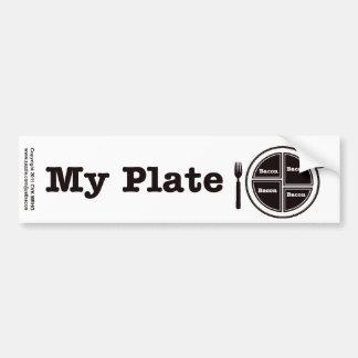 Bacon My Plate Car Bumper Sticker