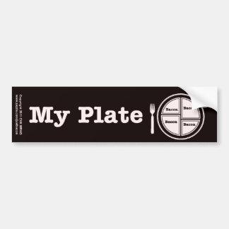Bacon My Plate Bumper Sticker