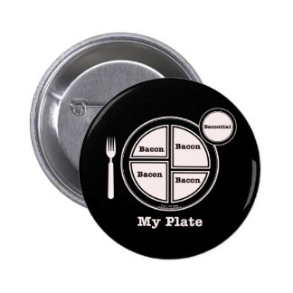 Bacon My Plate Pinback Button
