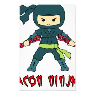 Bacon Ninja Stationery