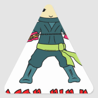 Bacon Ninja Triangle Sticker