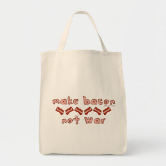 Bacon Not War Tote Bag