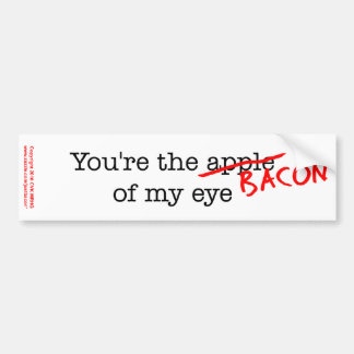 Bacon of My Eye Bumper Sticker