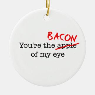 Bacon of My Eye Ceramic Ornament