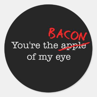 Bacon of My Eye Classic Round Sticker