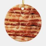 bacon ornament-round ceramic ornament
