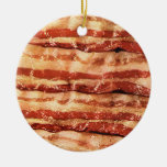 bacon ornament-round Double-Sided ceramic round christmas ornament