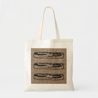 Bacon over Burlap Tote Bag