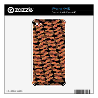 Bacon Pattern Decals For iPhone 4