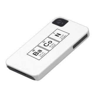 Bacon Periodic Table Element Symbols Case-Mate iPhone 4 Case