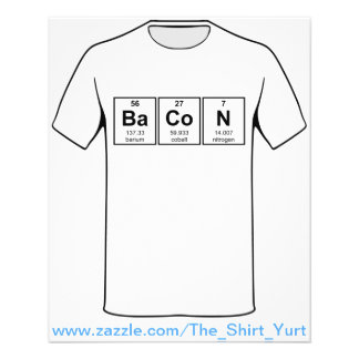 Bacon Periodic Table Element Symbols Flyer