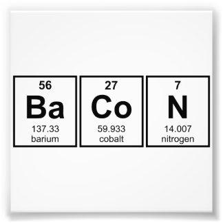 Bacon Periodic Table Element Symbols Photo