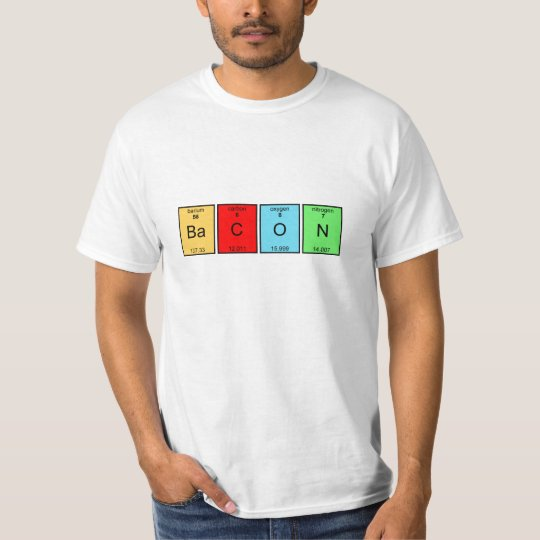 Bacon periodic table elements t shirt zazzle bacon periodic table elements t shirt urtaz Choice Image