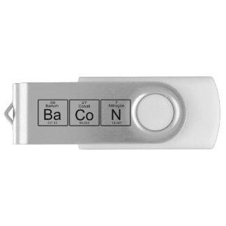 Bacon Periodic Table Geek Humor USB Flash Drive