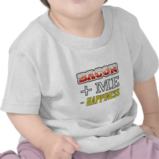 Bacon Plus Me Equals Happiness Funny T Shirts