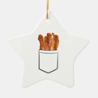 Bacon Pocket Ceramic Ornament