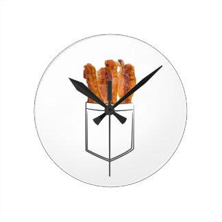 Bacon Pocket Round Clock