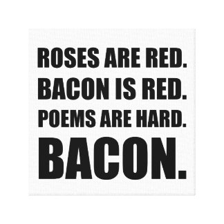 Bacon Poem 2 Canvas Print