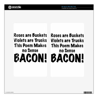 Bacon Poem Skins For Kindle Fire