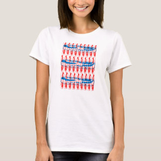 Bacon Pop Art - Red and Blue T-Shirt