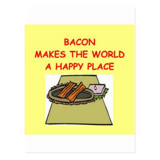 bacon postcard
